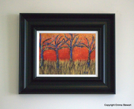 Savannah Sunset. Rich colours, sparkly, shimmery. SOLD